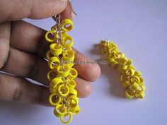 Handmade Jewelry - Paper Quilling Earrings (Round Hanging) (3)