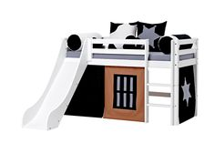Halfhigh Cowboy bed with slide by Hoppekids