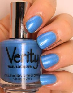 Verity Nail Lacquer Flamenco Blue   Be Happy And Buy Polish via @Be Happy And Buy Polish