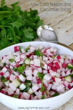 This partially raw radish and cucumber salad is perfect for summer! Low carb and keto recipe. Soups appetizers # Dinner Soups appetizers dinner salad Soup Appetizers Soup Appetizers dinners carb Soup Appetizers Appetizers with french onion Cucumber Recipes, Salad Recipes, Diet Recipes, Cooking Recipes, Healthy Recipes, Juicer Recipes, Recipes With Radishes, Radish Salad, Cucumber Salad