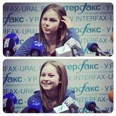 A few of Yulia Lipnitskaya's many adorable facial expressions!!