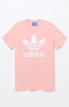 Introduce your athletic side to the streets in this instant classic tee by adidas. The Trefoil T-Shirt has a crew neck, short sleeves, and the brand's iconic Trefoil logo on the front.    Solid tee  adidas graphic on front  Crew neck  Short sleeves  Machine washable