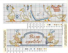 Juste Cross Stitch Patterns (1227 p.) | En savoir Crafts est facilisimo.com Cross Stitch Bookmarks, Cross Stitch Baby, Cross Stitch Flowers, Cross Stitch Charts, Cross Stitch Kitchen, Cross Stitching, Kids Rugs, Birds, Embroidery