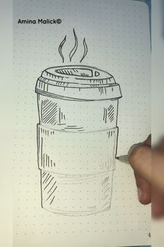 How to draw coffeee! - Best Picture For diy furniture For Your Taste You are looking for something, and it is going to t - Coffee Drawing, Coffee Art, Bullet Journal Ideas Pages, Bullet Journal Inspiration, Bellet Journal, Human Art, Drawing Techniques, Doodle Art, Easy Drawings