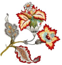 Botanical Flowers, Boarders, Byzantine, Flower Art, Baroque, 2d, Rooster, Paisley, Cartoons