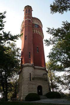 Now that's a cool tower! Eden Park Standpipe, Cincinnati