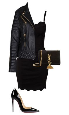 """Where am I going tonight?"" by yeezusdaughter ❤ liked on Polyvore featuring Glamorous, Christian Louboutin and Yves Saint Laurent"