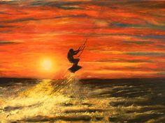 sunser kitesurf canvas