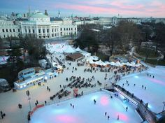 Figure-eight your way through a Viennese fairy tale, courtesy of the Vienna Ice Dream, a two-rink complex constructed in front of Vienna's majestic City Hall Square each winter.