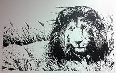 Custom Lion wall decal