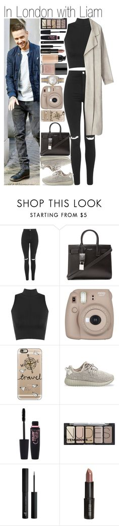 """""""• In London with Liam"""" by dianasf ❤ liked on Polyvore featuring Topshop, Yves Saint Laurent, WearAll, Fujifilm, Casetify, adidas Originals, Maybelline, H&M, Revlon and Lord & Berry"""