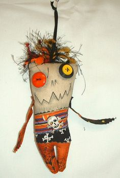 Mini Pirate Monster  Voodoo Doll  Ornament 2 by FromGramsHouse, $10.00