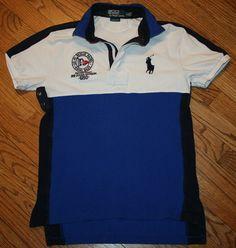 Polo Ralph Lauren Custom Fit RL Rescue Patrol Naval Base Shirt Men's Small golf #PoloRalphLauren #PoloRugby
