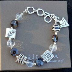 Silpada Jewelry Retired Pieces | Silpada .925 Sterling Silver Crystal Smoky Quartz Arrowhead Link ...
