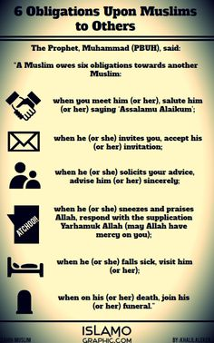 6 Obligations Upon Muslims to Others Infographic