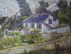 House in Auvers Vincent Van Gogh #impressionism
