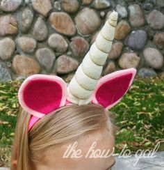 Too Cute - a Unicorn Horn Headband Tutorial with DIY instructions for your girls