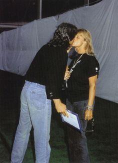 Paul McCartney and Linda Eastman-McCartney (kiss...awwww :) )