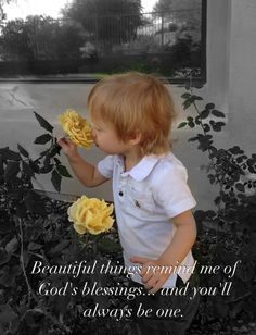 Flower blessing cute baby