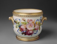 Copeland and Sons Staffordshire Ice Pail with Roses