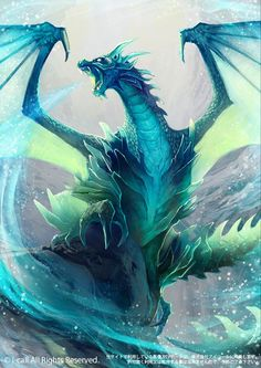 """Holy crap this would be awesome as the cover to my short story, """"The Remains of Winter""""!!!! Icedragon by raqmo"""