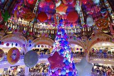 ギャラリー・ラファイエットの巨大クリスマス・ツリー 2017|マダムのフランス暮らし ~ La Vie en Rose ~ オフィシャルブログ