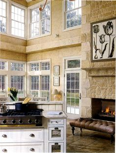 The Decorated House: ~ White Kitchen Inspiration 3, Home Office & Fireplace