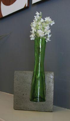 Concrete and Glass Vase. $35.00, via Etsy.