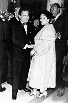 The Cutest Cannes Couples Ever | The Zoe Report - Elizabeth Taylor & Michael Todd 1957