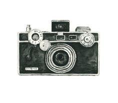 Vintage camera aquarel giclee art print / / ARGUS camera / / home decor--kunst aan de muur