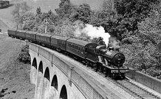 https://flic.kr/p/7AR5yD | Somerset & Dorset...Tucking Mill Viaduct.. | The down pines express crossing tucking mill viaduct near bath...1939.
