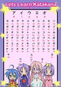 Let's learn Katakana with Lucky Star!