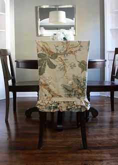 cute ruffled dining chair slipcover