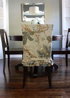 cute ruffled dining chair slipcover