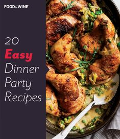 Here, fantastic recipes for an easy and elegant dinner party including creamy #soups, juicy #roasts and more.