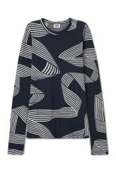 <p>The Ima Ribbon is a vibrant long sleeve with a playful optical print. Made of a light softcotton, it has a round banded neck and an elongated, slim fit.<br /><br />- Size Small measures83 cm in chest circumference and68,50 cm in front length. The sleeve length is73 cm.</p>