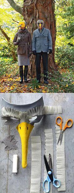BIRD MASK PATTERN & TUTORIAL  TUT HERE http://www.marthastewart.com/908925/bird-mask#slide_3 PAPER MACHE EYE MASK HERE http://www.mardigrasoutlet.com/C104D4/Basic-Paper-Mache-Masks.html BEAK TEMPLATE HERE http://www.marthastewart.com/sites/files/marthastewart.com/ecl/images/content/web/pdfs/2009Q4/msl_1009_0910_birdmask2.pdf CREPE PAPER BASICS INFO HERE http://www.marthastewart.com/270243/crepe-paper-basics