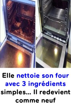 She cleans her oven with 3 simple ingredients . It becomes like new again! Elle nettoie son four avec 3 ingrédients simples… Il redevient comme neuf ! She cleans her oven with 3 simple ingredients … It becomes like new again!