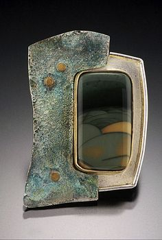 Distant Hills of Edo brooch - Art Jewelry Magazine - Online Community, Forums, Blogs, and Photo Galleries