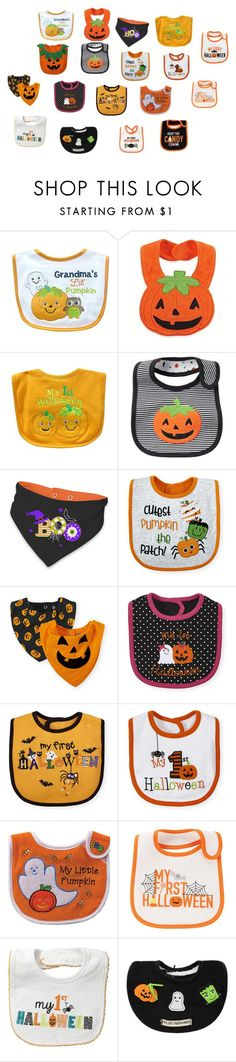 """""""Halloween Bibs"""" by nangel-94126 ❤ liked on Polyvore featuring Carter's"""