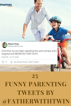 Robert Knop, the dad who shares funny parenting tweets on @FatherWithTwins, knows the ups and downs of life family life with his twin boys and we're LOLing. #Humor #Tweets #FatherwithTwins