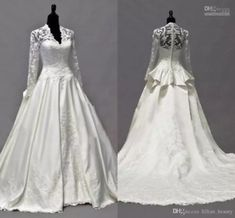 Fall Wedding Dresses, Elegant Wedding Dress, Wedding Dress Styles, Bridal Dresses, Cheap Pageant Dresses, Kate Middleton Wedding Dress, Vestidos Vintage, Look, Costume