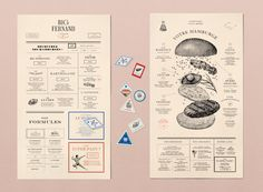 Big Fernand is a French burger company.You can find their restaurants in France, Dubai, Hong-Kong and London.We created the new identity of the entire communication.Illustrations, menus, packagings, signage, stamps and much more.We drew custom fonts f…