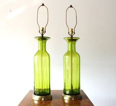 Pair of Mid Century Modern Blenko Lamps in Berwyn, Illinois on Krrb!