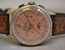 Vintage Steelco Chronograph Mondphase Datums- Tages- Monatsanzeige extrem selten
