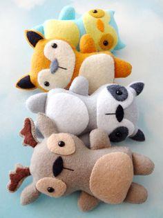 Woodland Animal Softies Sewing Pattern por preciouspatterns