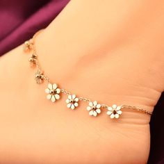 Luxury Rose Gold Anklet Ankle Bracelet Cheville Barefoot Beach Foot Leg Chain Jewelry Pulseras Tobilleras Mujer Bijoux Femme - Jewel in Watch Ankle Jewelry, Cute Jewelry, Body Jewelry, Jewelry Box, Jewelry Making, Beach Jewelry, Wedding Jewelry, Jewlery, Bracelet Rose Gold