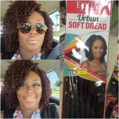 Crochet braids with moveable part. Soft dread hair pulled about l. Crochet Braid Pattern, Crochet Braid Styles, Crochet Twist, Braid Patterns, Dread Hairstyles, Twist Hairstyles, Hairdos, Natural Hairstyles, Wedding Hairstyles