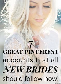 7 great pinterest boards that all new brides should follow now! thanks for making my day @Wedding Party!