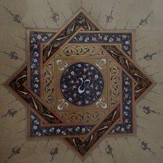Tezhipler Islamic Art Pattern, Arabic Pattern, Pattern Art, Arabic Calligraphy Art, Arabic Art, Illumination Art, Turkish Art, Detail Art, Illuminated Manuscript